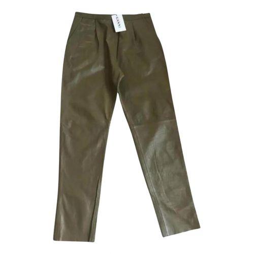 GANNI Ganni Leather trousers