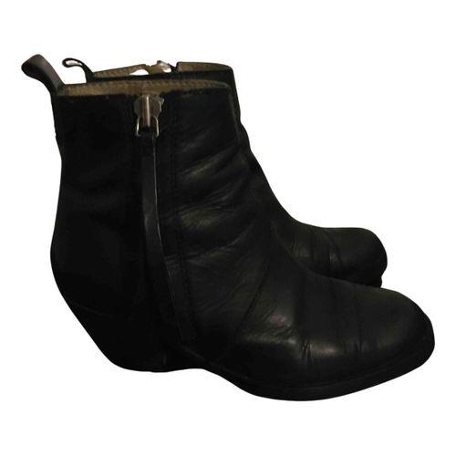 Acne Studios Pistol leather open toe boots
