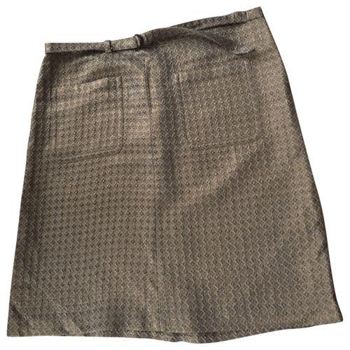 Dries Van Noten Metallic Cotton Skirt