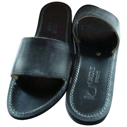 K Jacques Anacapri leather mules