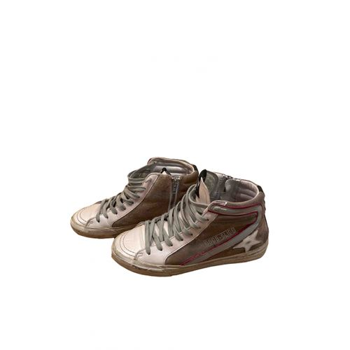 Golden Goose Slide leather trainers