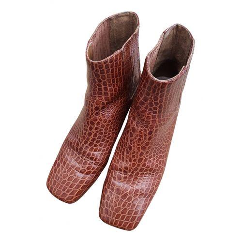 Nanushka Vegan leather ankle boots