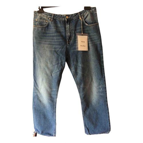 Acne Studios Blue Cotton Jeans Pop
