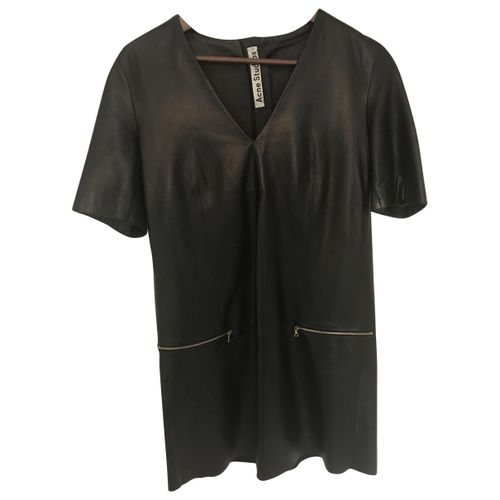 Acne Studios Leather mini dress