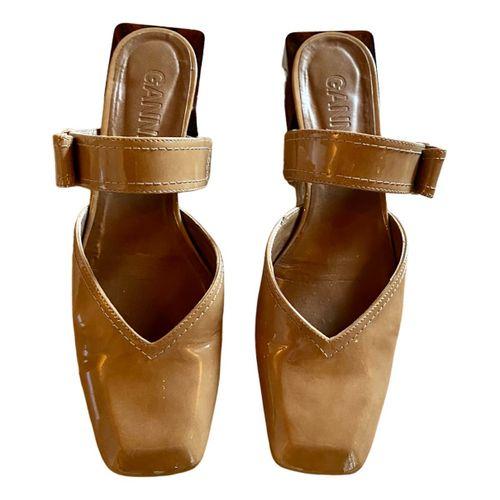 Ganni Patent leather sandals