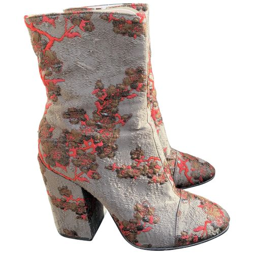 Dries Van Noten Glitter ankle boots