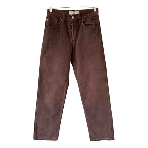 Levi's Brown Cotton Jeans