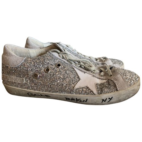Golden Goose Mid Star glitter trainers