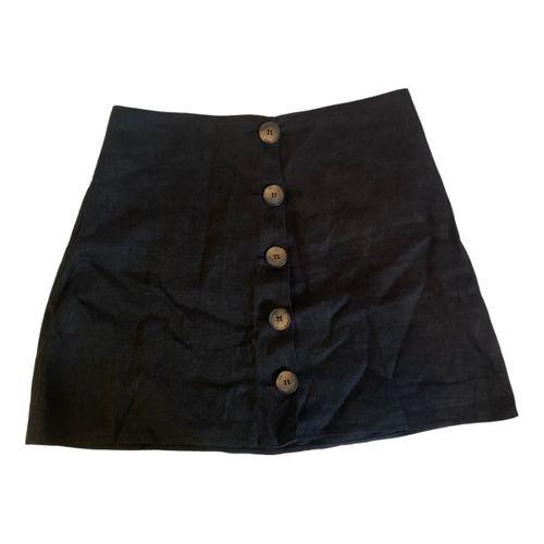 Reformation Linen mini skirt