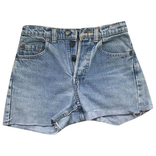 Levi's Blue Cotton Shorts
