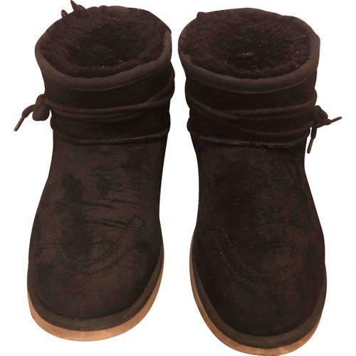 Golden Goose Faux fur snow boots