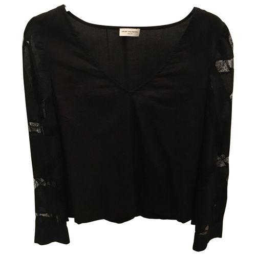 Dries Van Noten Black Cotton Top