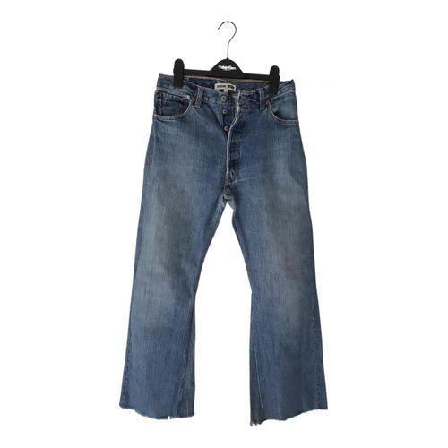 Re/Done x Levi's Blue Cotton Jeans