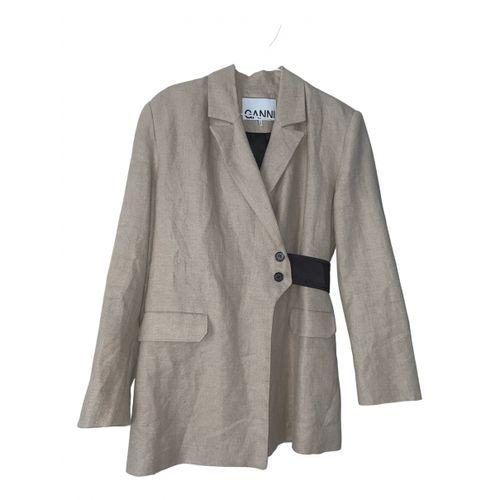 Ganni Spring Summer 2020 linen blazer