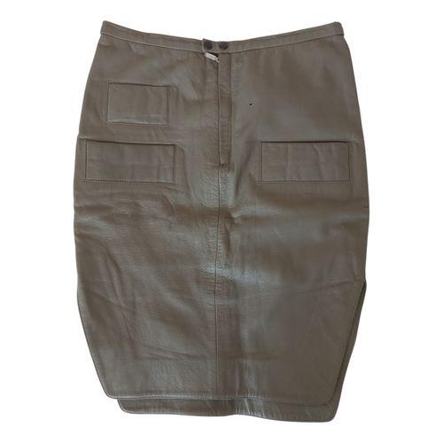 Acne Studios Leather mid-length skirt