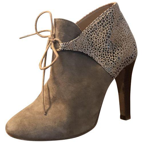 Sézane Leather lace up boots
