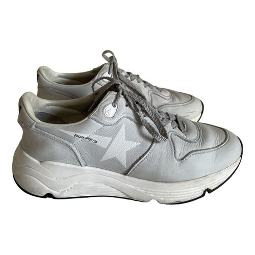 Golden Goose Running leather trainers