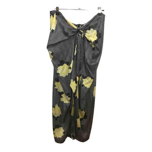 Ganni Silk mid-length skirt