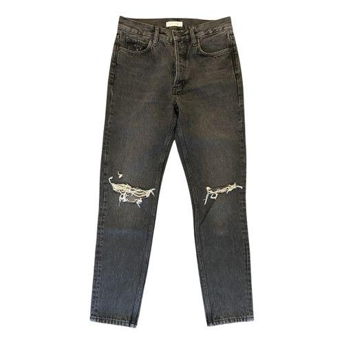 Anine Bing Black Cotton Jeans Spring Summer 2020