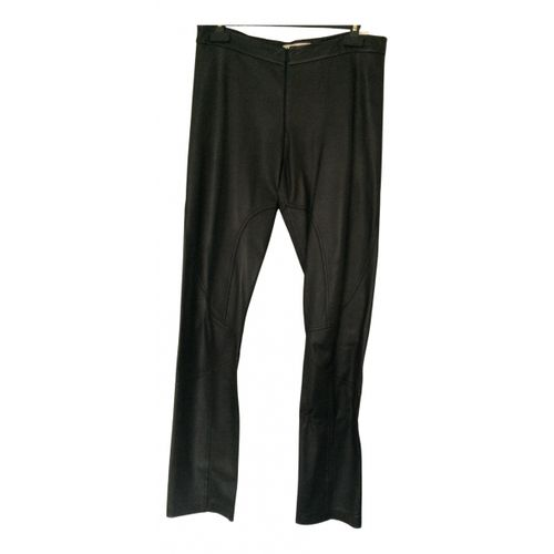 by Malene Birger Leather straight pants