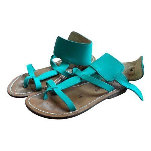 K Jacques Caravelle leather sandals