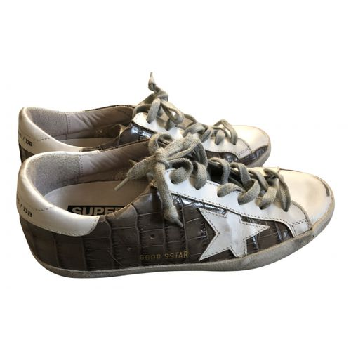 Golden Goose Superstar leather trainers
