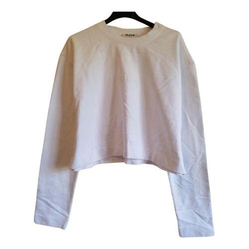 Acne Studios White Cotton Knitwear