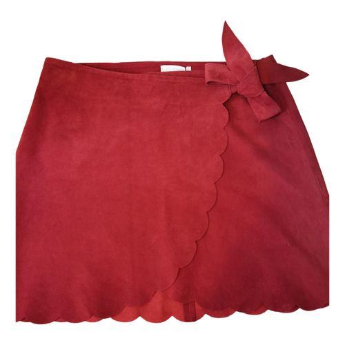 Sézane Fall Winter 2019 leather mini skirt