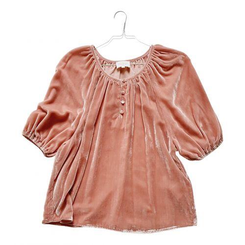 Sézane Velvet blouse