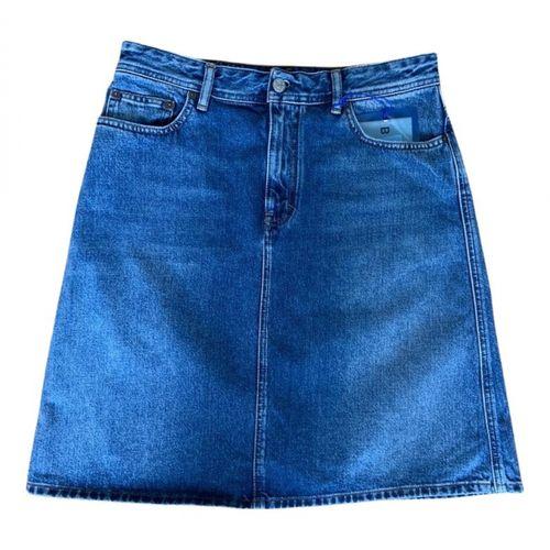 Acne Studios Blå Konst mid-length skirt