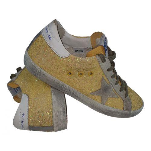 Golden Goose Superstar glitter trainers