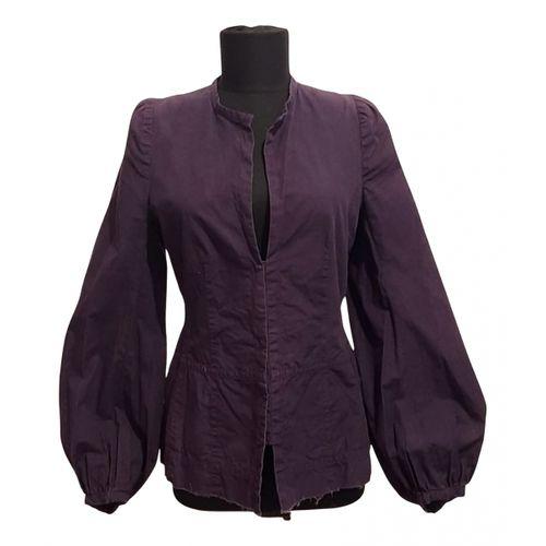 Dries Van Noten Purple Cotton Jacket