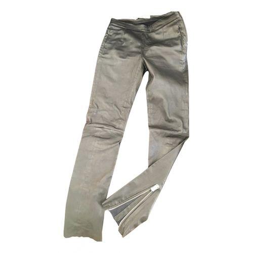 Acne Studios Leather carot pants