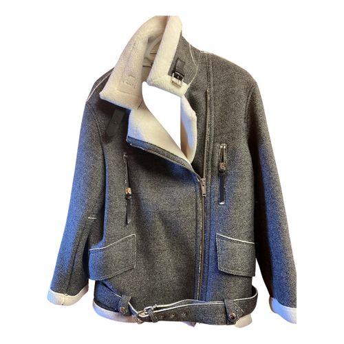Golden Goose Wool biker jacket