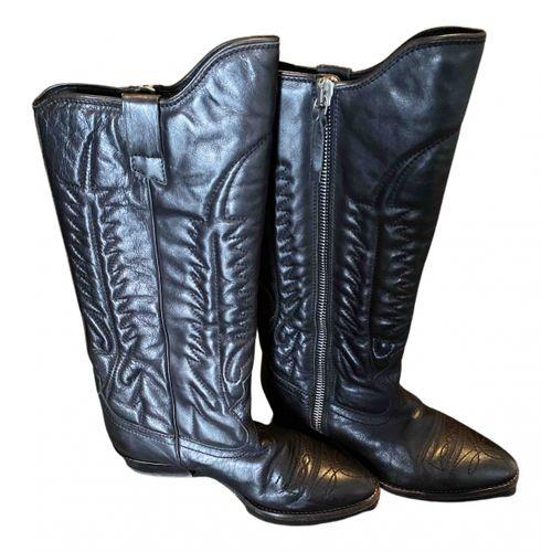 Golden Goose Leather cowboy boots