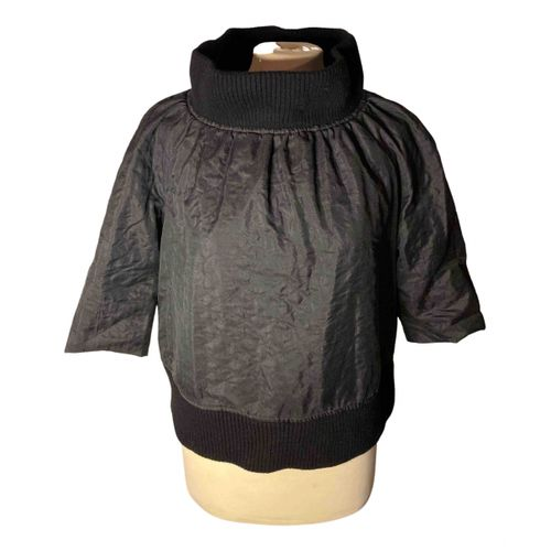 Dries Van Noten Black Polyester Knitwear
