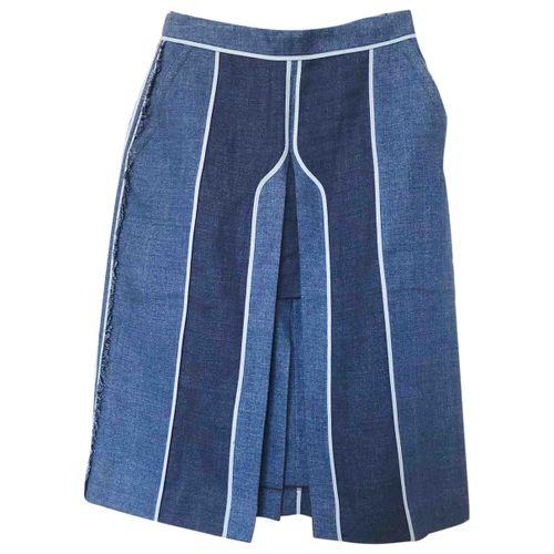 Acne Studios Linen mid-length skirt