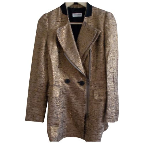 Dries Van Noten Gold Cotton Jacket