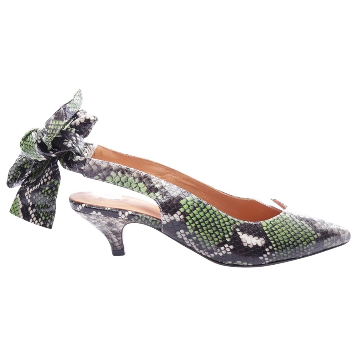 Ganni Exotic leathers heels