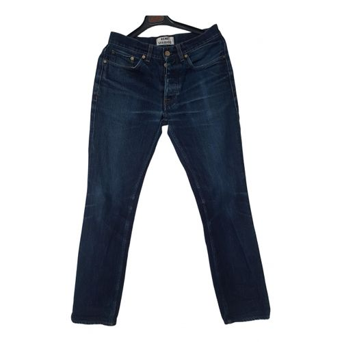 Acne Studios Blue Cotton Jeans Row