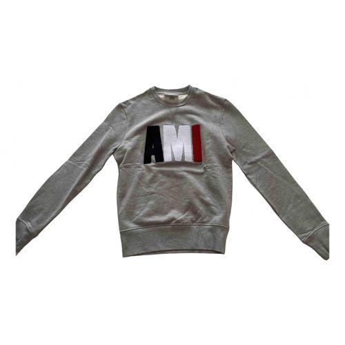 Ami Grey Cotton Knitwear