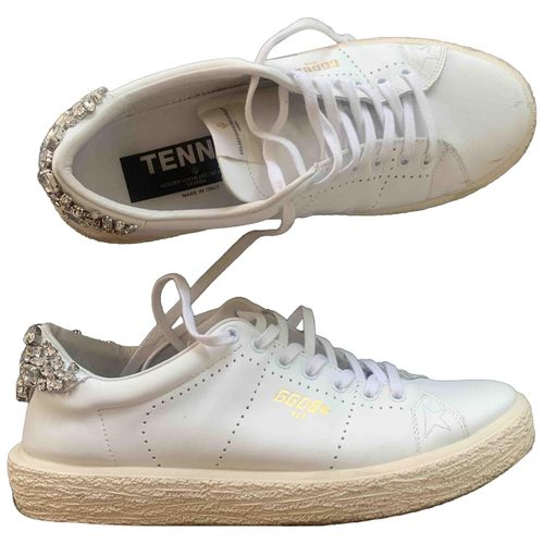 Golden Goose Tennis leather trainers
