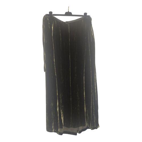 Dries Van Noten Velvet maxi skirt