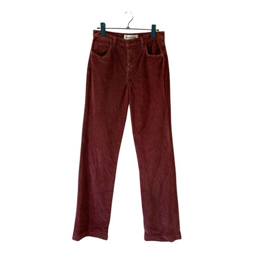 Reformation Velvet trousers