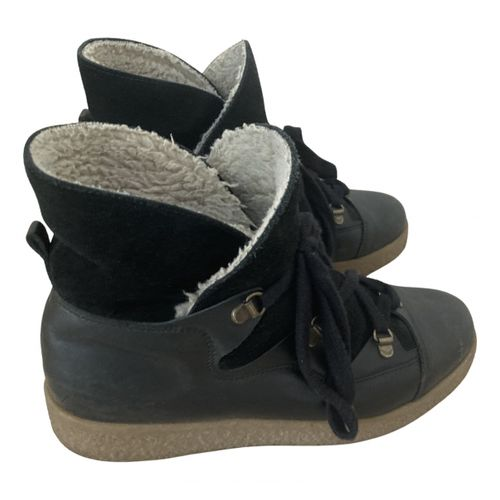Ganni Leather snow boots