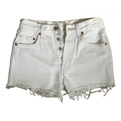 Levi's White Denim - Jeans Shorts 501