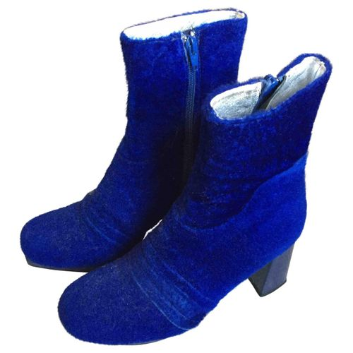 Amélie Pichard Velvet ankle boots