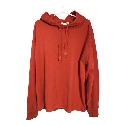 Acne Studios Red Cotton Knitwear