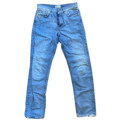 Acne Studios Blue Cotton Jeans