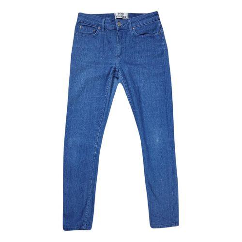 Acne Studios Blue Cotton - elasthane Jeans Skin 5